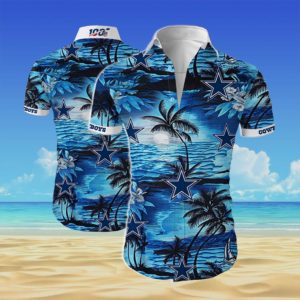 Dallas cowboys team Summer Short Sleeve Hawaiian Beach Shirt
