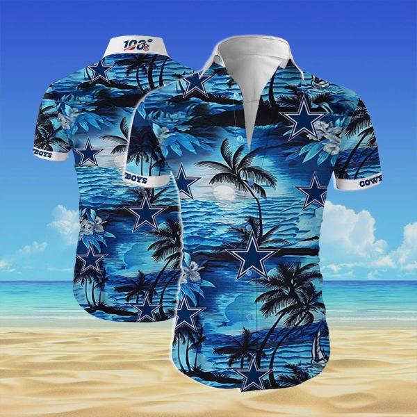 Dallas cowboys team Summer Short Sleeve Hawaiian Beach Shirt