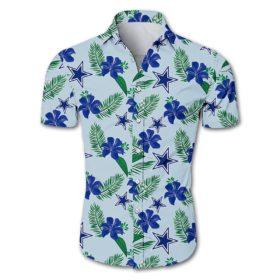 Dallas cowboys tropical flower Hawaiian Beach Shirt