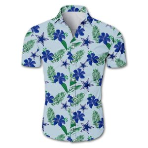 Dallas cowboys tropical flower Hawaiian Beach Shirt