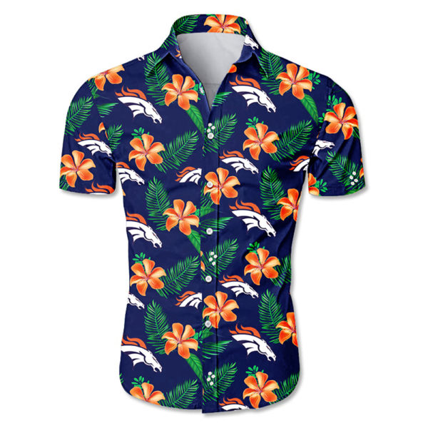 Denver broncos tropical flower Hawaiian Beach Shirt