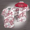 Fireball cinnamon whisky Hawaiian Beach Shirt