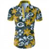 Green bay packers tropical flower Hawaiian Beach Shirt