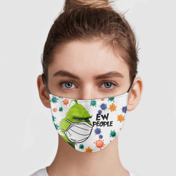 Grinch Ew People Face Mask Reusable