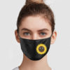 Happy Sunflower Cloth Face Mask Reusable