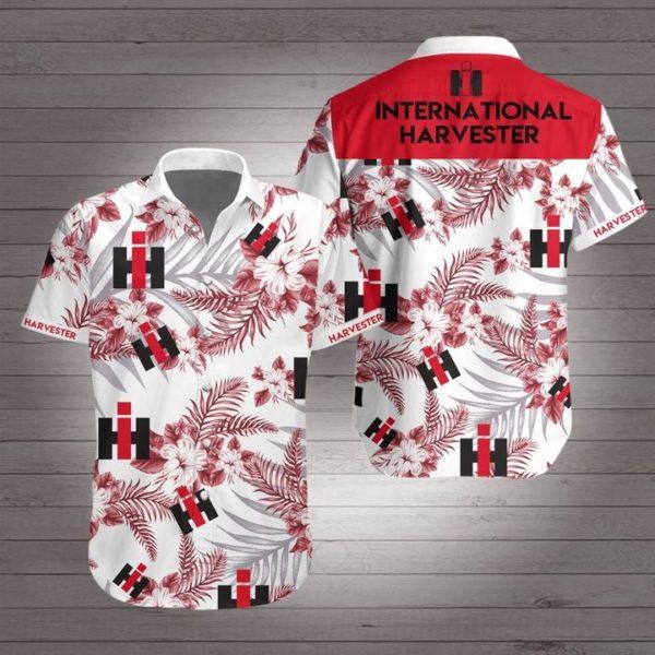 International harvester Hawaiian Beach Shirt