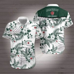 Jameson irish whiskey Hawaiian Beach Shirt