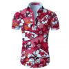 Kansas city chiefs tropical flower Hawaiian Beach Shirt
