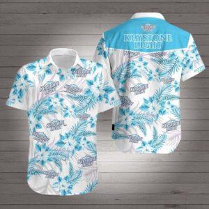Keystone light beer Hawaiian Beach Shirt