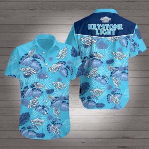 Keystone light Hawaiian Beach Shirt
