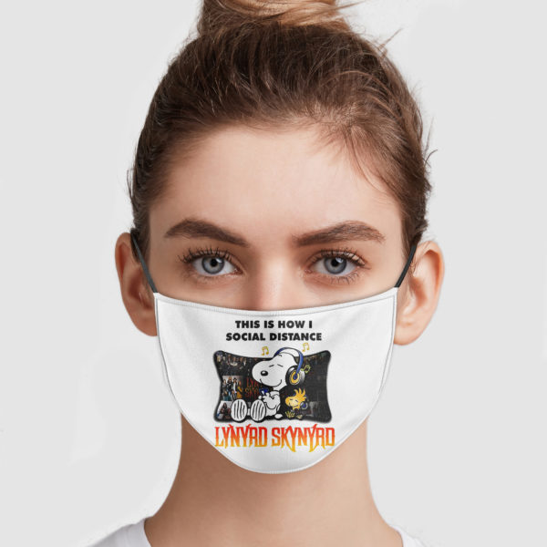 Snoopy This Is How I Social Distance Lynyrd Skynyrd Cloth Face Mask Reusable