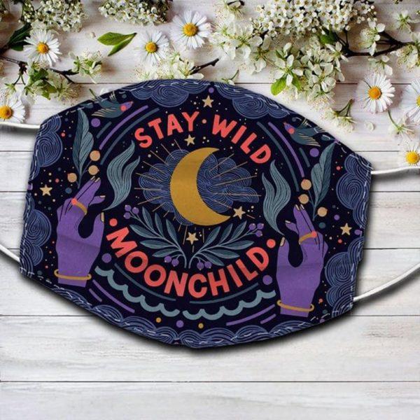 Stay Wild Moon Child Hippie Mask