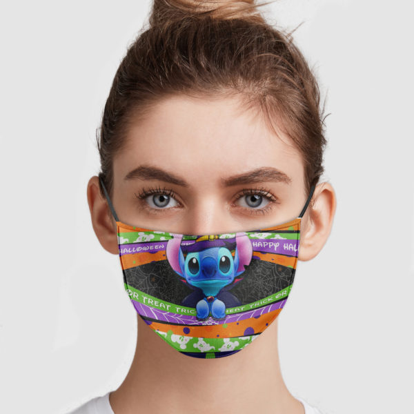 Stitch Happy Halloween Cloth Face Mask Reusable