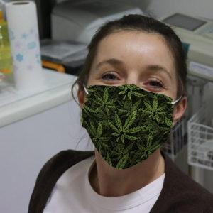 Marijuana Cannabis Hemp Leaves Face Mask