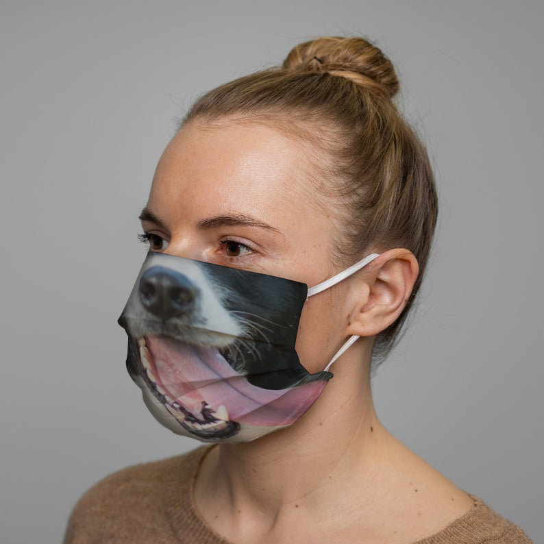 Border Collie Dog Face Mask