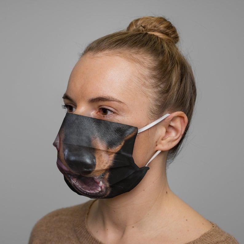 Dachshund Dog Face Mask