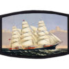 Clipper Ship Three Brothers Currier Ives Face Mask