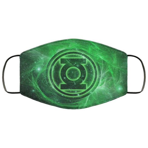 Green Lantern Face Mask Reusable