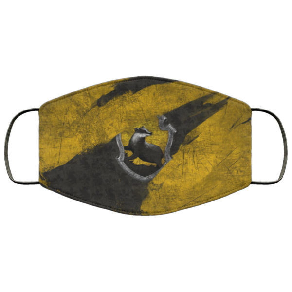 Hufflepuff Hogwarts Face Mask Reusable