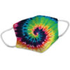 For Vintage Tie-Dye Psychedelic Pattern Reusable Face Mask