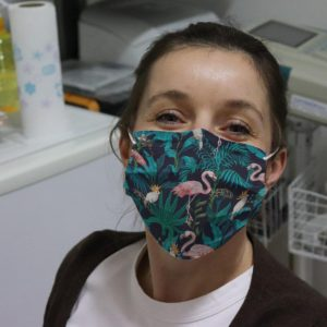 Tropical Summer Forest Flamingo Reusable Face Mask