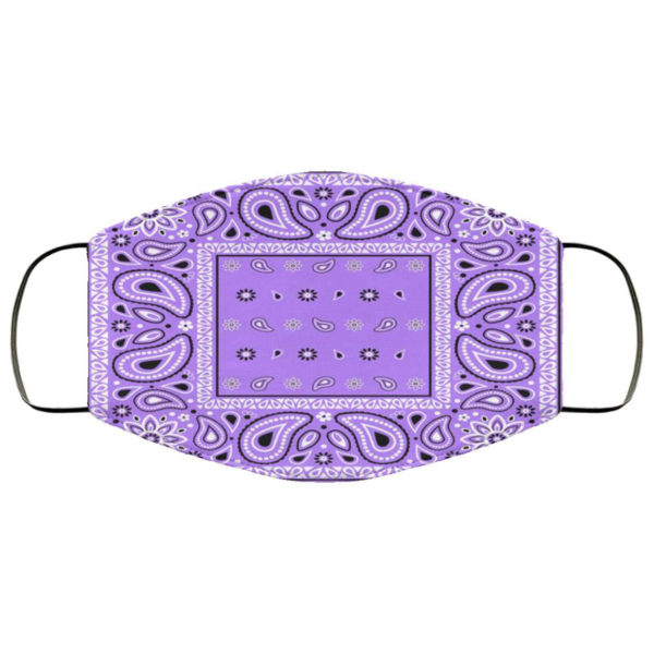 Violet Purple Bandana Face Mask