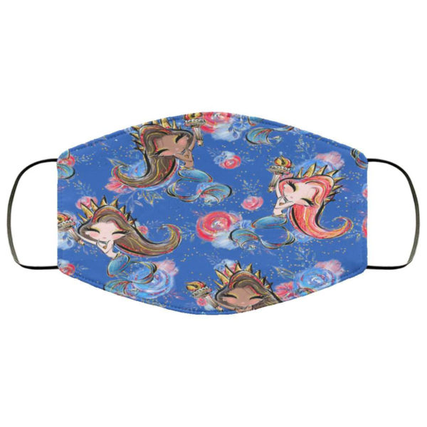 Cute Mermaid July 4th American Flag Face Mask