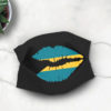Bahamas Flag Lips Face Mask