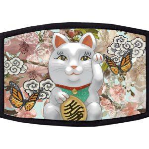 Japanese Maneki-Neko Lucky Cat Face Mask