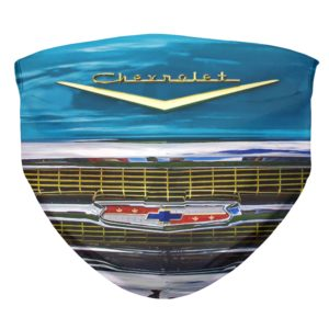 1957 Chevy Bel Air Blue Face Mask