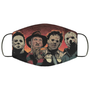 Horror Movie Icons Face Mask Reusable