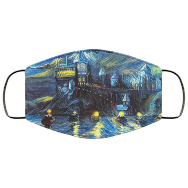 Hogwarts Starry Night Face Mask Reusable
