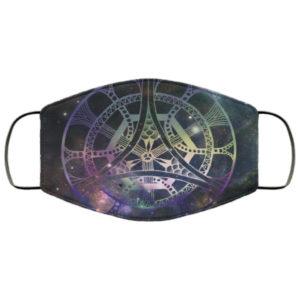 Galactic Mandala Handmade Face Mask