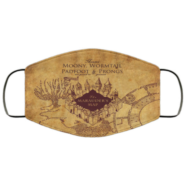 The Marauders Map Face Mask Reusable