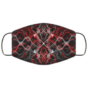 Red Black Smoke Abstract Face Mask