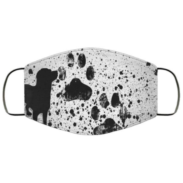 Dog Paw Print Face Mask Reusable