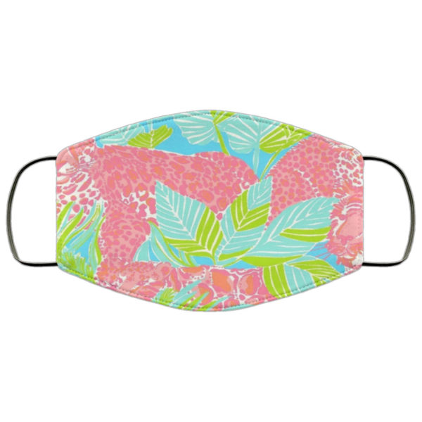 Pink Leopard Lilly Print Face Mask