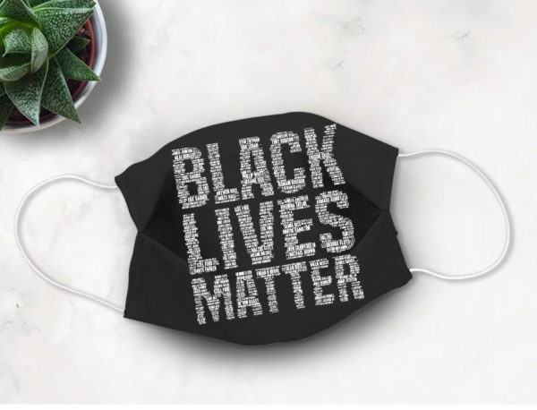 BLM Face Mask Black Lives Matter with Victims Names Say Their Names Face Mask