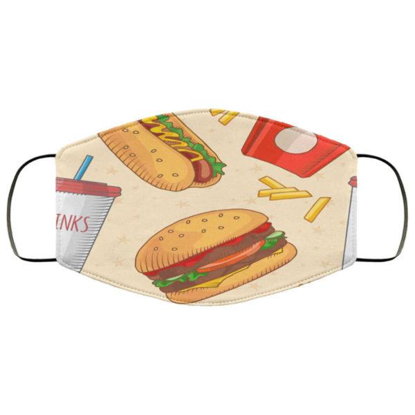 Burger Fries Face Mask