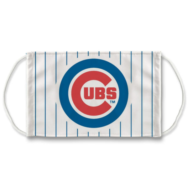 Chicago Cubs Pin Stripe White and Blue Mask NLB Face Mask