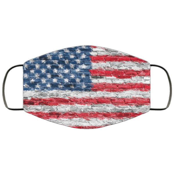 American Flag Wall Face Mask Reusable