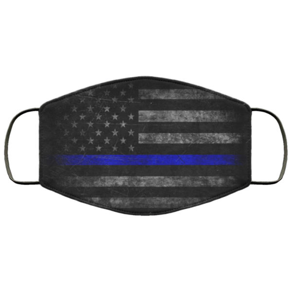 Thin Blue Line Police Face Mask Reusable