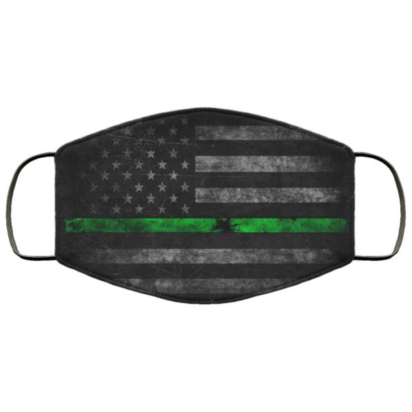 Thin Green Line Law Face Mask Reusable