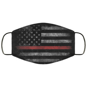 Thin Red Line FireFighter Face Mask Reusable Face Mask