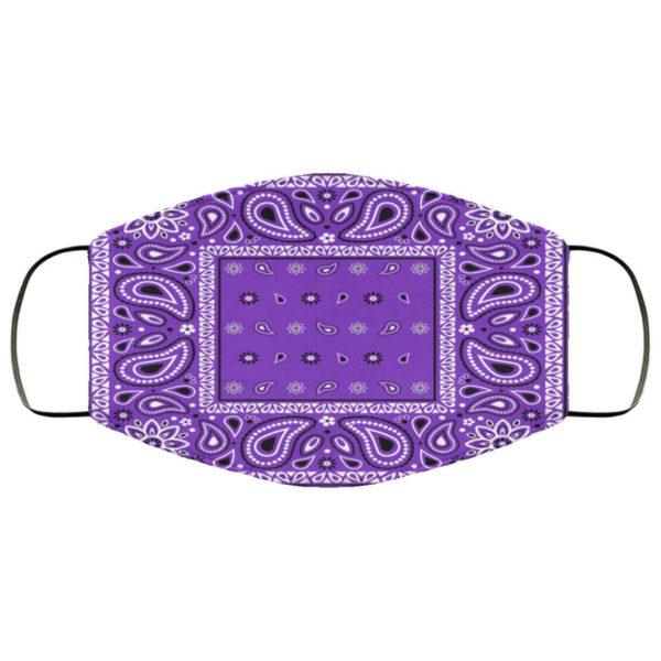 Purple Bandana Face Mask