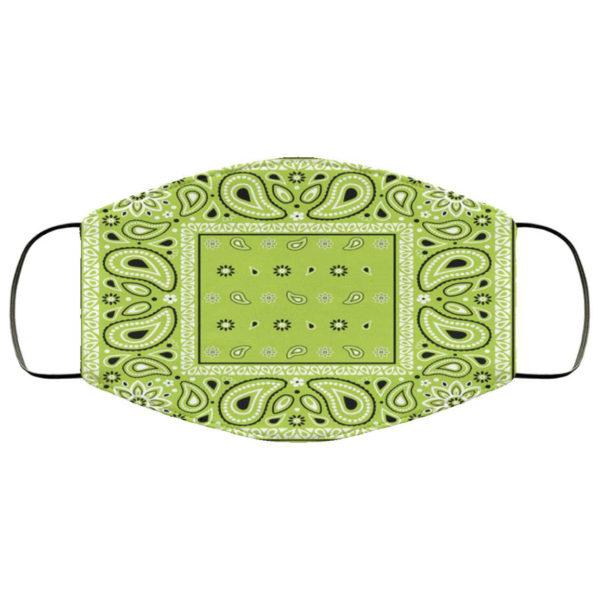 Apple Green Bandana Face Mask