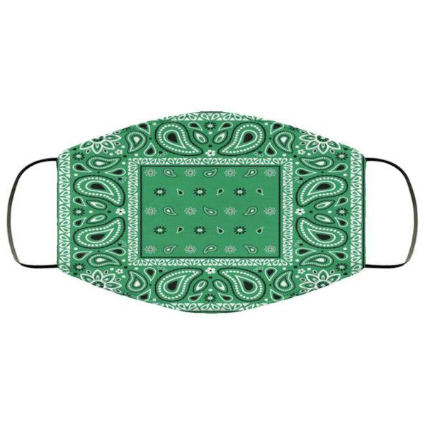 Green Bandana Face Mask