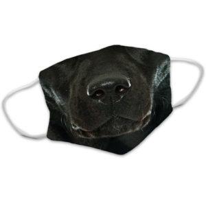 Black Labrador Lab Dog Face Face Mask