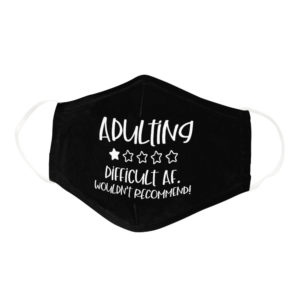 Funny Adulting One Star Rating Pun Face Mask
