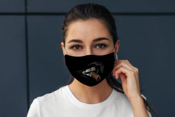 Cigar Smoking Mouth Gift For Him Reusable Face Mask